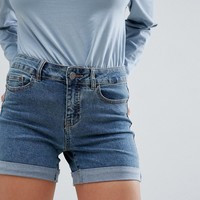 Noisy May Roll Hem Denim Short at asos.com