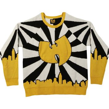 Wu Tang Clan Men's  Logo Sweater Sweatshirt Black/White