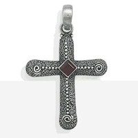 Cross With Garnet Center