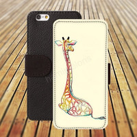 iphone 5 5s case cartoon giraffe iphone 4/ 4s iPhone 6 6 Plus iphone 5C Wallet Case,iPhone 5 Case,Cover,Cases colorful pattern L135