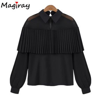 Women Clothes Mesh Blouse Long Sleeve Tops Shirt Femininas 2018 Summer Fashion Tassel Shirts Women Chiffon Blusas Chemise Femme