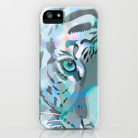Blue Tiger iPhone & iPod Case by Ornaart