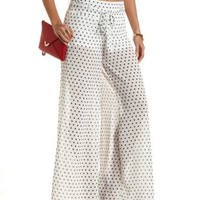 High-Waisted Polka Dot Palazzo Pants by Charlotte Russe