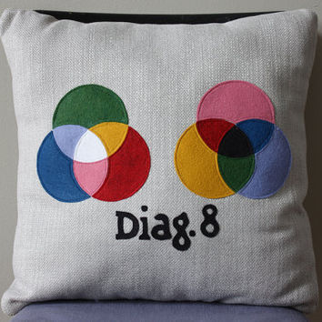 Science Diagram Pillow - Light Theory
