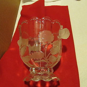 VINTAGE EXTRA LARGE CRYSTAL VASE BY IMPERLUX WORLD'S FINEST BOHEMIAN CRYSTAL