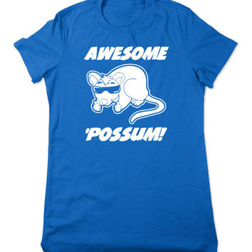 Funny Shirt, Awesome Possum Shirt, Animal Sunglasses, Funny T Shirt, Funny TShirt, Opossum, Possum TShirt, Funny Tee, Ladies Women Plus Size