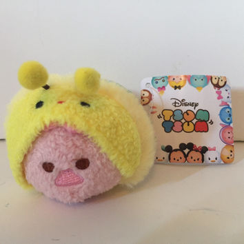 "disney japan exclusive honeybee piglet mini tsum tsum 3 1/2"" new with tags"