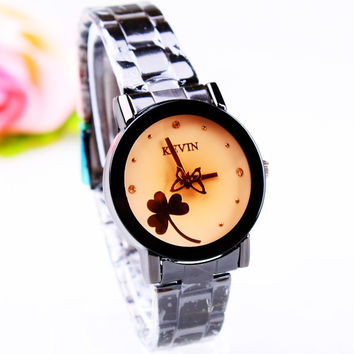 Gift Awesome Designer's Trendy Good Price New Arrival Great Deal Stylish Simple Design Roman Rhinestone Ladies Stainless Steel Band Watch [8863750087]
