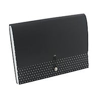 See Jane Work Expanding File Case 9 x 11 34 13 Pockets Black Dot by Office Depot