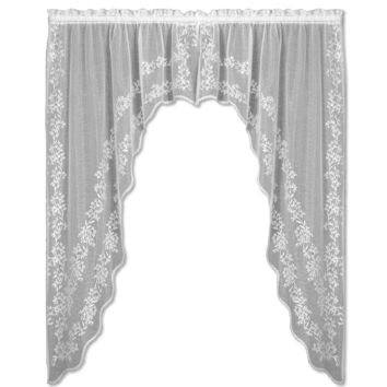 Sheer Divine 80X63 Swag Pair, White