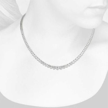 Graduated Diamond Eternity Necklace in 18k White Gold (15 ct. tw.) | Blue Nile