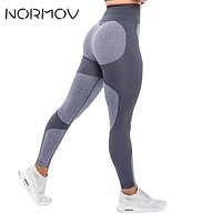 NORMOV Casual Seamless Legging For Women Fitness High Waist Trousers Workout Push Up Pants Gym Women Clothing