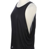 Solid Drop Armhole Muscle Top