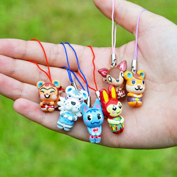 Choose your own Animal Crossing New Leaf Villager - Phone/ 3DS charm – Choose between a Phone strap or a Necklace,  Handmade to Order