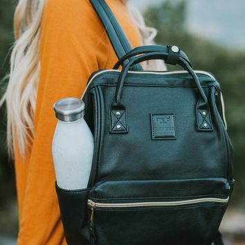 Savvy Faux Leather Carry-all Backpack