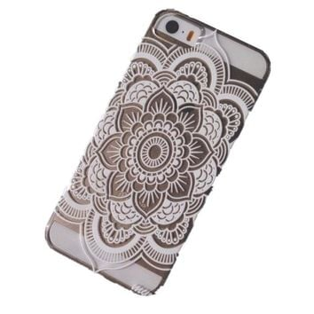 Henna Full Mandala Floral Dream Catcher Case Cover for iPhone 5 5S SE