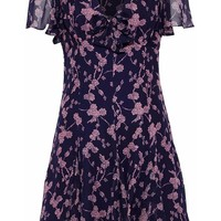 Annali bow-embellished floral-print silk-chiffon mini dress | CINQ À SEPT | Sale up to 70% off | THE OUTNET