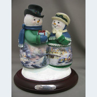 Thomas Kinkade Snow Wonderful Gifts Snow Couple New  Item 0107942004 COA