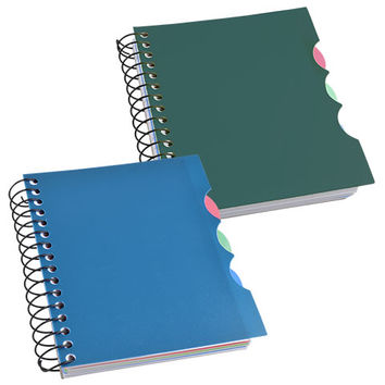 Bulk Jot 4-Subject Mini Spiral Notebooks with Plastic Covers at DollarTree.com