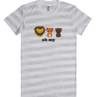 Oh My-Female Ash/White Stripe T-Shirt