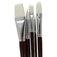 White Nylon Art Brushes - 5-Piece Set | Hobby Lobby