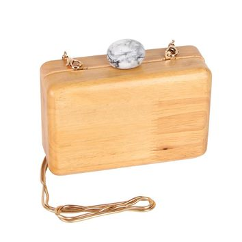 JULY'S SONG Women Wooden Shoulder Bag Evening Party Wood Box Clutch Bag Ladies Hard Case Day Clutches Minaudiere Handbag Purse