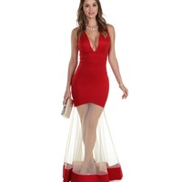 Baldwin-red Prom Dress