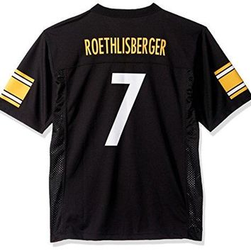 Ben Roethlisberger Pittsburgh Steelers Black NFL Youth 2016-17 Season Mid-tier Jersey