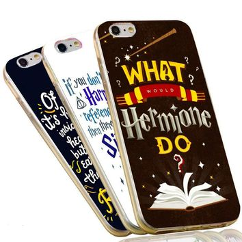 Harry Potter Notes Solemnly Swear Quotes Soft Clear TPU Phone Case for iPhone 5S 5 SE 5C 4 4S 6 6S 7 Plus Cover
