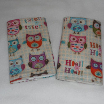 Teething Pads/Dribble/Drool Chew Pad For Baby Carriers/Ergo/Baby Bjorn/Hootie Owls