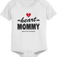 I Heart Mommy Cute Baby Bodysuit - Pre-Shrunk Cotton Snap-On Style Baby Onesuit