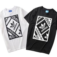 """Adidas"" Unisex Casual Fashion Classic Letter  Pattern Short Sleeve  T-shirt Top Tee"