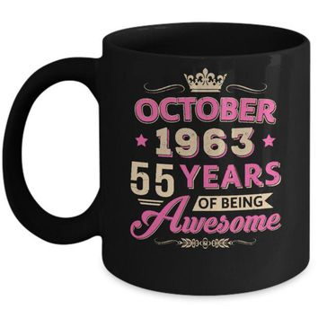 DCKIJ3 October 1963 55Th Birthday Gift Being Awesome Mug