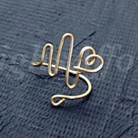 Custom Wire Heartbeat Ring (MADE TO ORDER) Silver Ring, Gold Ring, Copper Ring, Ekg Ring, Pulse Ring, Love Ring, Heart Ring, Life Ring