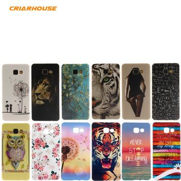 Cartoon Printing Soft Silicone TPU Case Cover For SAMSUNG GALAXY A3 A5 A7 2017 J1 J5 J7 2016 Prime A310 S7 Edge G935 S8 Plus 1 2
