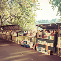 Paris Famous Booksellers Bouquinistes Fine Art Photography Print