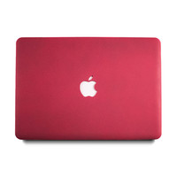 Quicksand Matte MacBook Case - Maroon