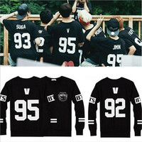 BTS K-POP Idol Bangtan Boys NO.95 V Pullover Sweatshirt Tops Fleece Couples Tee [8834071436]