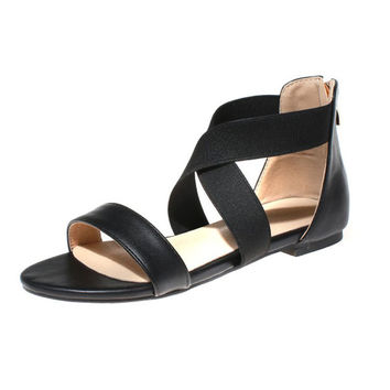 Female Shoes Flat Plus Size Sandals = 5825106689