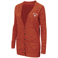 Texas Longhorns Colosseum Women's Minx Long Sleeve Cardigan - Burnt Orange