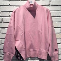 adidas Originals High Neck Sweatshirt In Pink