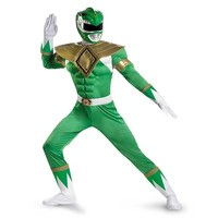 Power Rangers Green Ranger Muscle Costume - Adult