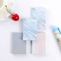 VONC1Y 1 x Creative Stone texture memo pad paper Post-it notes sticky notes notepad kawaii stationery school supplies kids gifts