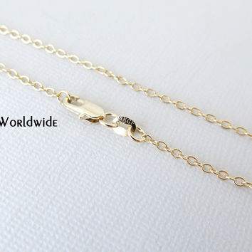 "22"" - 18KT Yellow Gold Filled Chain - Dainty Fine - 22"" - 22 Inch - Lobster Claw Clasp - 18 Karat KT YGF - Cable Chain"