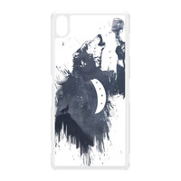 Wolf Song 3 White Hard Plastic Case for Sony Xperia Z3 by Balazs Solti