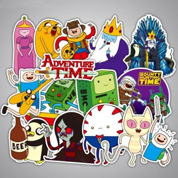 29pcs/Lot Adventure Time Cartoon Brand Graffiti Stickers Scrapbooking Guitar Skateboard Waterproof PVC Laptop Luggage Stickers