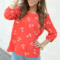 Anchors Away Top, Red