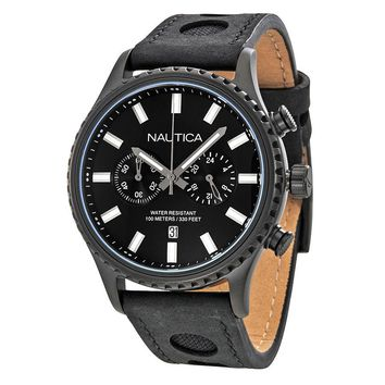 Nautica NMS 02 Black Dial Mens Chronograph Watch Set NAD20511G