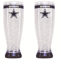 Dallas Cowboys Crystal Pilsner Glass