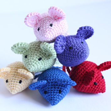 Crochet Mouse: Waldorf Inspired, Montessori, Handmade, Pretend Play, Home Decor, Soft Toy